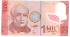 Банкнота 1000 colones Costa Rica Коста-Рика 2009 год