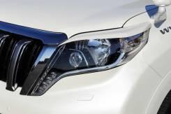 Накладка на фару. Toyota Land Cruiser Prado, GDJ150L, GDJ150W, GDJ151W, GRJ150L, GRJ150W, GRJ151W, KDJ150L, TRJ12, TRJ150W Двигатели: 1GDFTV, 1GRFE, 1...
