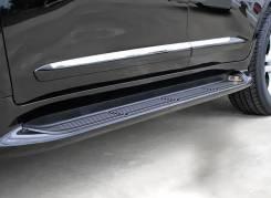 Подножки с подсветкой стиль Lexus для Land Cruiser200 в Благовещенске. Toyota Land Cruiser