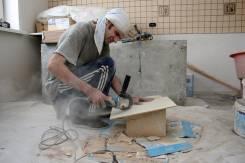 Ремонт в квартире: подготовка стен, краска, выравнивание, плитка, обои.