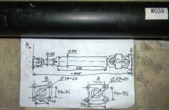 Карданный вал. Mazda Eunos Cargo, SS58VE, SSF8VE, SEF8TE, SSF8WE, SE58TE, SSF8RE, SS28ME, SE28ME, SSE8WE Mazda J80, SS28VF, SS88MF, SS28HF, SSF8VF, SS...