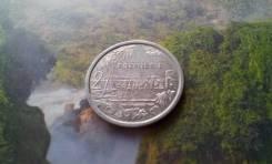 Экзотика! 2 франка 1988 г. Французской Полинезии. Большая красивая мон