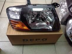 Фара Mitsubishi Pojero V6#/7#99-06год ( правая) черн фон
