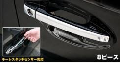 Накладка на ручки дверей. Toyota Prius