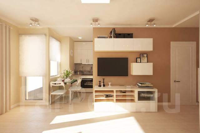 1-комнатная, улица Нейбута 17 кор. 2. 64, 71 микрорайоны, застройщик, 38 кв.м. Дизайн-проект