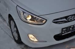 Линза фары. Hyundai Solaris