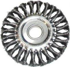 Щетка для УШМ 125мм ф22мм плоская крученая сталь