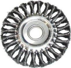 Щетка для УШМ 125мм ф22мм плоская крученая сталь STAYER 35120-125