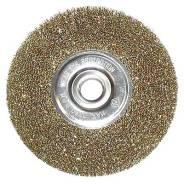 Щетка для УШМ 125мм ф22мм плоская, латунированная витая проволока
