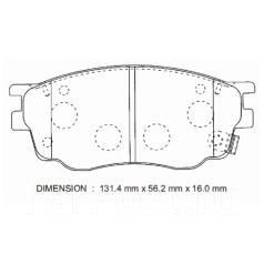 Колодка тормозная дисковая. Mazda Atenza, GYEW, GG3P, GGEP, GG3S, GY3W, GGES