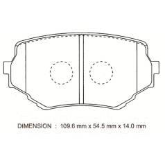 Колодка тормозная дисковая. Mazda Proceed Levante, TF11W, TF31W, TJ31W, TJ32W, TF52W, TF51W, TJ61W, TJ11W, TJ52W, TJ51W, TJ62W Suzuki Escudo, TA52W, T...