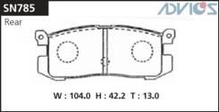 Колодка тормозная дисковая. Ford Telstar, GVERF, GDFPF, GVFRF, GV8WF, GVEWF, GD8AF, GD8RF, GVFWF, GDEPF, GDEAF, GDERF, GD8PF Mazda Eunos 300, MAEPE, M...