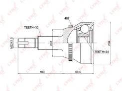 ШРУС наружный | перед прав/лев | TOYOTA HARRIER 3.3/3.5 (MHU38W,GSU30W,GSU31W) 2WD/4WD 05-09 / HIGHLANDER (MHU2_) 05-07 / LEXUS RX330/RX350/RX400H (MC...