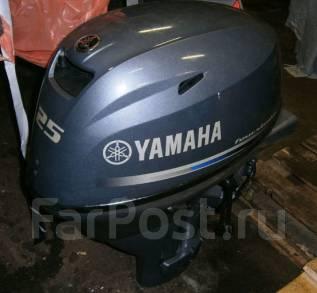 Yamaha. 25,00л.с., 4х тактный, бензин, нога L (508 мм), Год: 2015 год