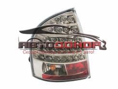 Задние фонари Лада Калина (ВАЗ 1118) седан, светодиодные, черный хром