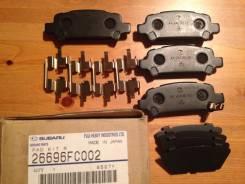 Колодка тормозная. Subaru Legacy, BHC, BH5, BHE, BE5, BH9 Subaru Forester, SF5, SG5, SF9 Subaru Impreza, GGA, GD9, GC8, GG9, GF8, GDA Двигатели: EJ206...