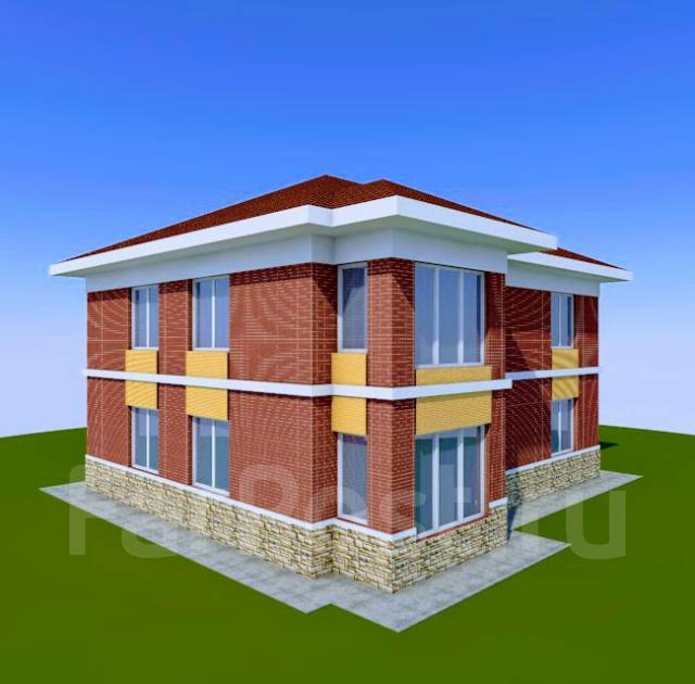 046 Z Проект двухэтажного дома в Березовском. 100-200 кв. м., 2 этажа, 6 комнат, бетон