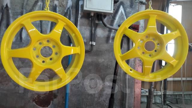 Полимерная окраска дисков и других изделий.