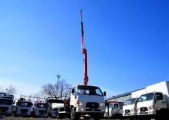 Hyundai HD78. Бортовой грузовик HD-78 с КМУ Palfinger PK8500, 3 900 куб. см., 7 000 кг.