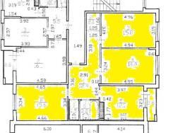 3-комнатная, Колпинское шоссе, 40к1. пушкинский, агентство, 80 кв.м. План квартиры