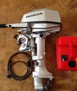 Honda. 5,00л.с., 4х тактный, бензин, нога S (381 мм), Год: 2009 год