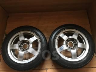 Пара зимних колес на Toyo Observe Garit KX 205/65 R16. 7.0x16 5x114.30 ET45