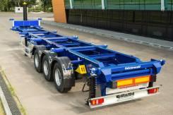 Grunwald. Полуприцеп-контейнеровоз Gr-VCSt Tipper, 31 750 кг.