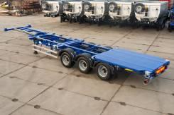 Grunwald. Полуприцеп-контейнеровоз Gr-VCSt Low-bed, 32 350 кг.
