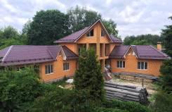 Новый дом. 3-й Комсомольский переулок, 12, р-н Мытищинский, площадь дома 420 кв.м., централизованный водопровод, электричество 15 кВт, отопление цент...