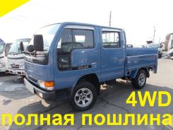 Nissan Atlas. 4WD, двухкабинник+борт+аппарель, 2 700 куб. см., 1 500 кг.