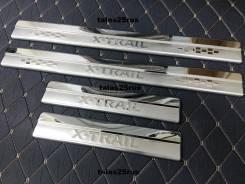Накладка на порог. Nissan X-Trail, NHT32, HT32, T32, NT32, HNT32