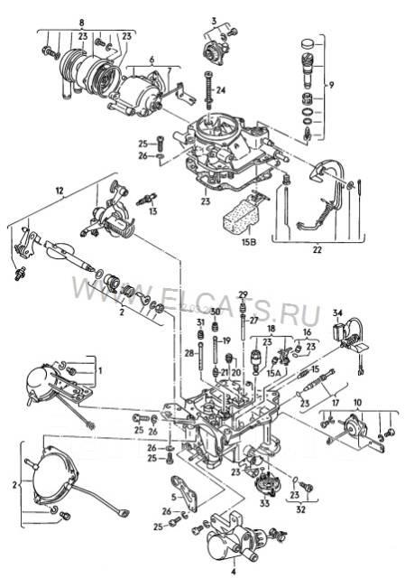 Карбюратор. Volkswagen: Caddy, Passat, Jetta, Quantum, Golf, Scirocco, Santana Audi: Coupe, 80, 90, Quattro, 100, Cabriolet Двигатели: JK, JN, HN, EM...