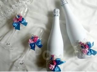 Украшения на бутылки. Под заказ