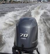 Yamaha. 70,00л.с., 4х тактный, бензин, нога L (508 мм), Год: 2013 год