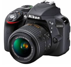 Nikon D3300 Kit. 20 и более Мп, зум: 14х и более