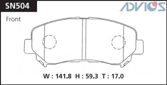 Колодка тормозная дисковая. Nissan Qashqai, J10E Nissan X-Trail, T31R, DNT31, NT31, T31, TNT31 Nissan Dualis, NJ10, J10, KNJ10, KJ10 Nissan Qashqai+2...