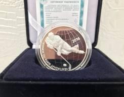 Серебряная монета чм по хоккею 2016