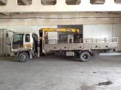 Isuzu Forward. Бортовой грузовик с манипулятором , 7 127 куб. см.