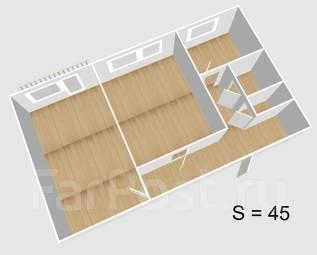 2-комнатная, Ул.Ломоносова. Делового центра, агентство, 44 кв.м.