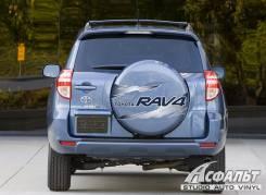 Наклейка на Toyota RAV4_ серая (на колпак)