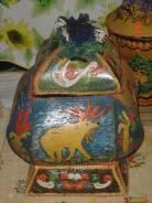 Шкатулка из бересты уникальный экспонат сделана в ручную продам