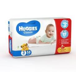 Huggies. 4-9 кг 58 шт