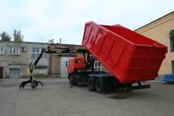 Камаз 65115. КМУ Ломовоз КамАЗ-65115-773094-42 (Евро 4), кузов 30 куб., 6 700 куб. см., 17 150 кг.
