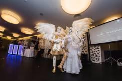 Мимы, ходулисты, живые статуи( встреча гостей) на свадьбу, промо акции