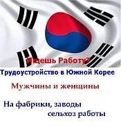 Рабочий подсобный. Работа в Южной Корее. Сеул