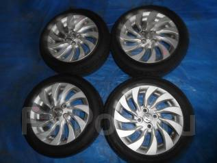 Продам диски Toyota с резиной Bridgestone 185/55 R15 лето 4х100. 6.0x15 4x100.00