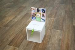 Ящик(баночка, куб) для пожертвований, изделие из акрила, акриловый