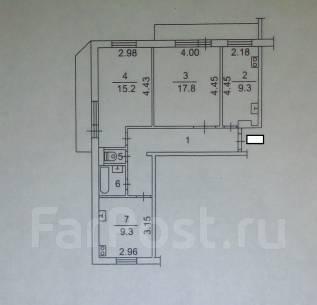 3-комнатная, улица Водопроводная 11. октябрьский, агентство, 68 кв.м.
