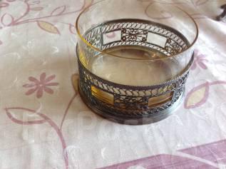 Конфетница юммет скань + стекло. Оригинал