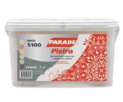 Декоративное покрытие с эффектом «камня» PARADE DECO PIETRA S100 7кг Кварц Россия